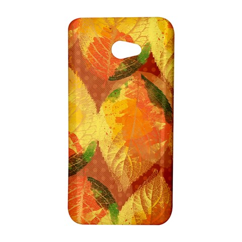 Fall Colors Leaves Pattern HTC Butterfly S/HTC 9060 Hardshell Case