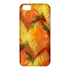 Fall Colors Leaves Pattern Apple Iphone 5c Hardshell Case