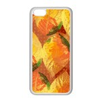 Fall Colors Leaves Pattern Apple iPhone 5C Seamless Case (White) Front