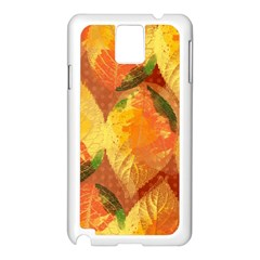 Fall Colors Leaves Pattern Samsung Galaxy Note 3 N9005 Case (white)