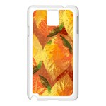 Fall Colors Leaves Pattern Samsung Galaxy Note 3 N9005 Case (White) Front