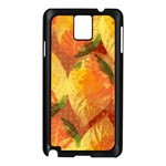 Fall Colors Leaves Pattern Samsung Galaxy Note 3 N9005 Case (Black) Front
