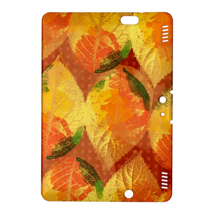 Fall Colors Leaves Pattern Kindle Fire HDX 8.9  Hardshell Case