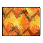 Fall Colors Leaves Pattern Double Sided Fleece Blanket (Small)  50 x40 Blanket Back