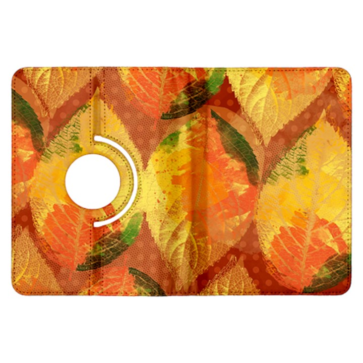 Fall Colors Leaves Pattern Kindle Fire HDX Flip 360 Case
