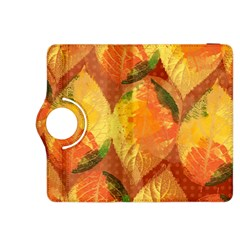 Fall Colors Leaves Pattern Kindle Fire Hdx 8 9  Flip 360 Case
