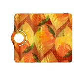 Fall Colors Leaves Pattern Kindle Fire HDX 8.9  Flip 360 Case Front
