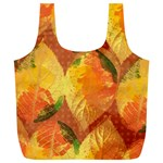 Fall Colors Leaves Pattern Full Print Recycle Bags (L)  Front