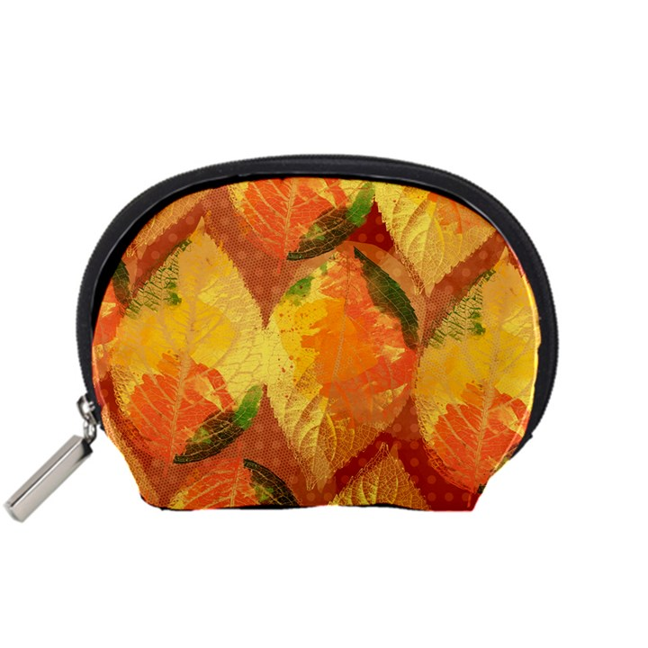 Fall Colors Leaves Pattern Accessory Pouches (Small)