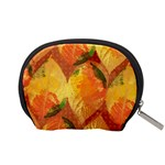 Fall Colors Leaves Pattern Accessory Pouches (Small)  Back