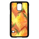 Fall Colors Leaves Pattern Samsung Galaxy S5 Case (Black) Front