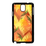 Fall Colors Leaves Pattern Samsung Galaxy Note 3 Neo Hardshell Case (Black) Front