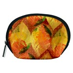 Fall Colors Leaves Pattern Accessory Pouches (Medium)  Front