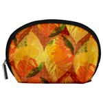 Fall Colors Leaves Pattern Accessory Pouches (Large)  Front