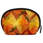 Fall Colors Leaves Pattern Accessory Pouches (Large)  Back