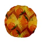 Fall Colors Leaves Pattern Standard 15  Premium Flano Round Cushions Front