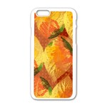 Fall Colors Leaves Pattern Apple iPhone 6/6S White Enamel Case Front