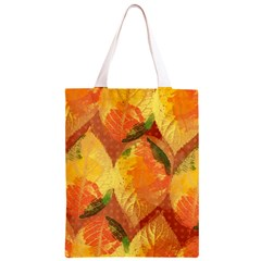 Fall Colors Leaves Pattern Classic Light Tote Bag