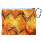 Fall Colors Leaves Pattern Canvas Cosmetic Bag (XXL) Back