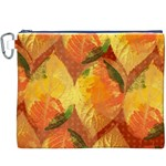 Fall Colors Leaves Pattern Canvas Cosmetic Bag (XXXL) Front