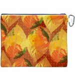 Fall Colors Leaves Pattern Canvas Cosmetic Bag (XXXL) Back
