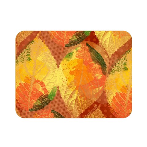Fall Colors Leaves Pattern Double Sided Flano Blanket (Mini)