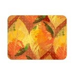 Fall Colors Leaves Pattern Double Sided Flano Blanket (Mini)  35 x27 Blanket Back