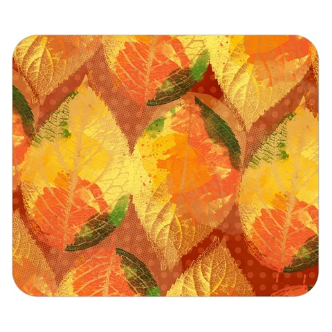 Fall Colors Leaves Pattern Double Sided Flano Blanket (Small)