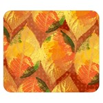 Fall Colors Leaves Pattern Double Sided Flano Blanket (Small)  50 x40 Blanket Back
