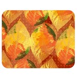 Fall Colors Leaves Pattern Double Sided Flano Blanket (Medium)  60 x50 Blanket Back