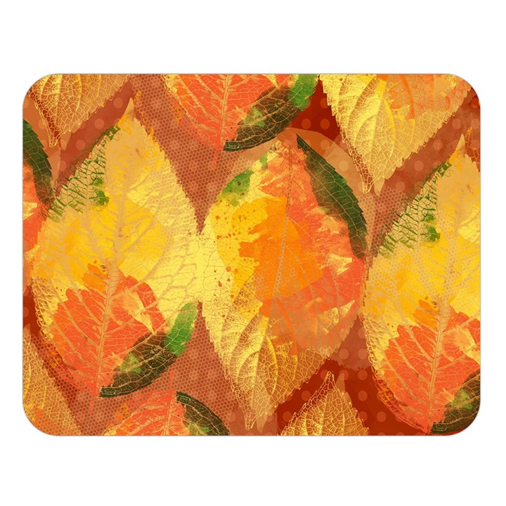 Fall Colors Leaves Pattern Double Sided Flano Blanket (Large)