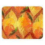 Fall Colors Leaves Pattern Double Sided Flano Blanket (Large)   Blanket Back