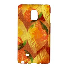 Fall Colors Leaves Pattern Galaxy Note Edge