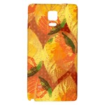 Fall Colors Leaves Pattern Galaxy Note 4 Back Case Front