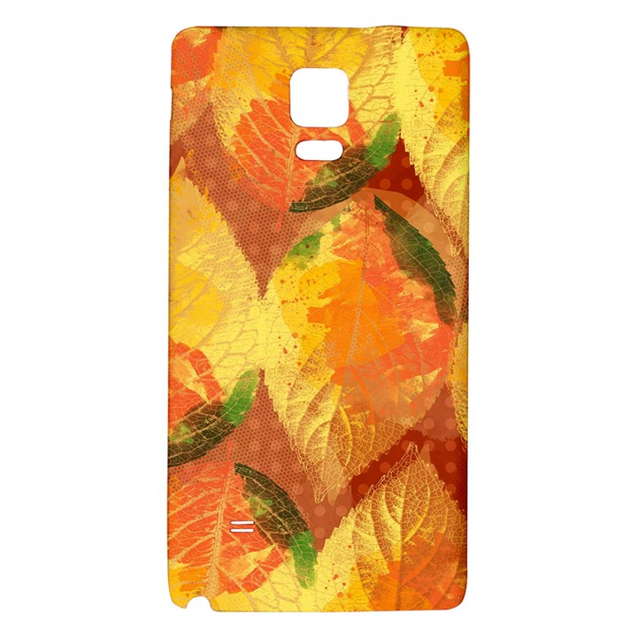 Fall Colors Leaves Pattern Galaxy Note 4 Back Case