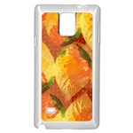 Fall Colors Leaves Pattern Samsung Galaxy Note 4 Case (White) Front