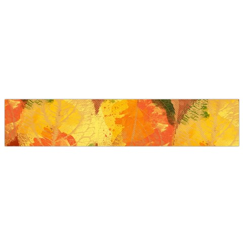 Fall Colors Leaves Pattern Flano Scarf (Small)