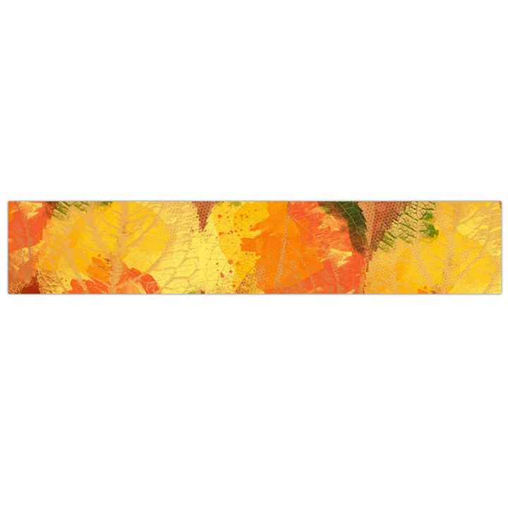 Fall Colors Leaves Pattern Flano Scarf (Large)
