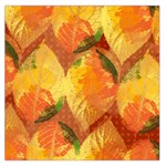 Fall Colors Leaves Pattern Large Satin Scarf (Square) Front