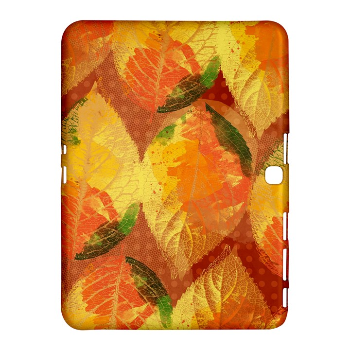 Fall Colors Leaves Pattern Samsung Galaxy Tab 4 (10.1 ) Hardshell Case