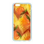 Fall Colors Leaves Pattern Apple Seamless iPhone 6/6S Case (Color) Front