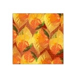 Fall Colors Leaves Pattern Satin Bandana Scarf Front