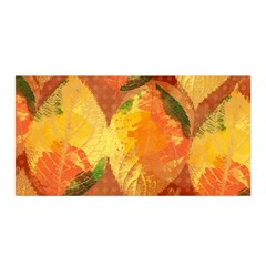 Fall Colors Leaves Pattern Satin Wrap