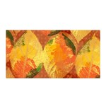 Fall Colors Leaves Pattern Satin Wrap Front