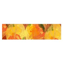 Fall Colors Leaves Pattern Satin Scarf (Oblong)