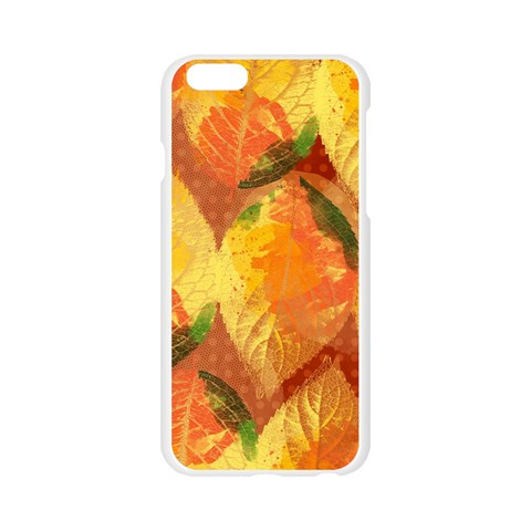 Fall Colors Leaves Pattern Apple Seamless iPhone 6/6S Case (Transparent)