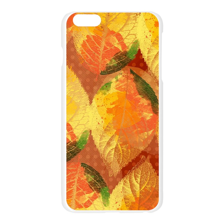 Fall Colors Leaves Pattern Apple Seamless iPhone 6 Plus/6S Plus Case (Transparent)