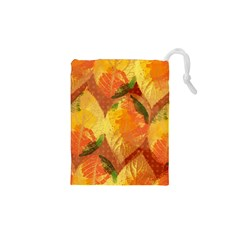 Fall Colors Leaves Pattern Drawstring Pouches (xs)