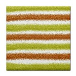 Metallic Gold Glitter Stripes Tile Coasters Front