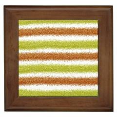 Metallic Gold Glitter Stripes Framed Tiles